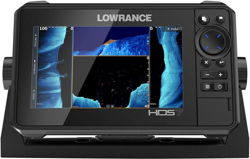 HDS-7 LIVE - 7-inch Fish Finder with Active Imaging 3 In 1 Transducer with FishReveal Fish Targeting and Smartphone integration. Preloaded C-MAP US Enhanced mapping