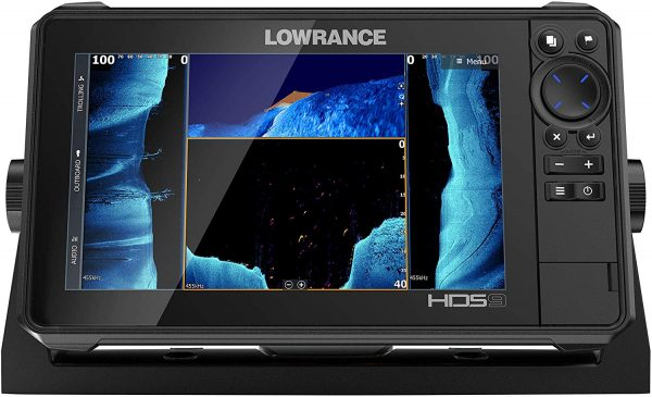 HDS-9 LIVE - 9-inch Fish Finder No Transducer Model is compatible with StructureScan 3D and Active Imaging Sonar. Smartphone integration. Preloaded C-MAP US Enhanced mapping