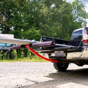 CLASSIC T-BONE BED EXTENDER with kayak on truck rear