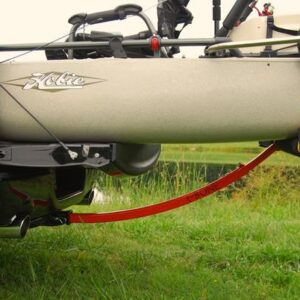 Boonedox T-Bone Bed Extender with kayak on truck rear