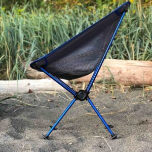 Blue Joey Comfortable Chair from the side