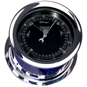 Chrome Plated Atlantis Premiere Barometer, Black Dial/ White Scale