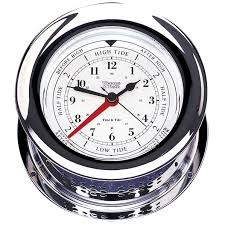 Chrome Plated Atlantis Time & Tide Clock
