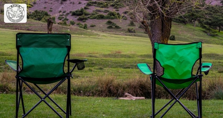 Fishing Chairs on the landscape
