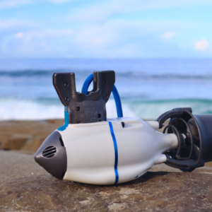 Pre-Order J-2 Outboard Kit in pose photo at the beach